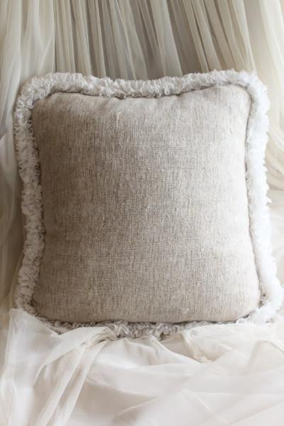 Couture Dreams Heavenly Silk Decorative Pillow, Neutral Multi
