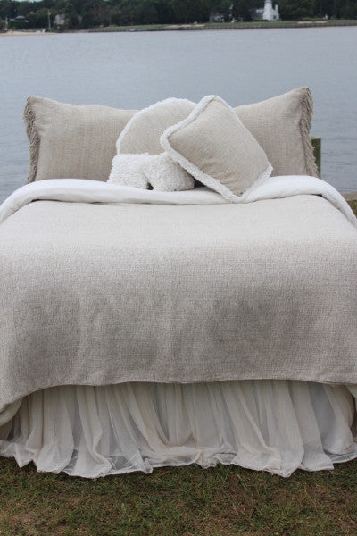 Couture Dreams Heavenly Silk Coverlet, Neutral Multi