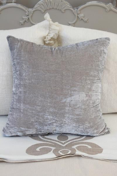 Couture Dreams Luscious Decorative Pillow, Platinum