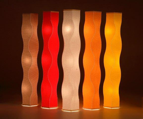Lumalight Wavy Design Floor Table Lamp | Roland Simmons