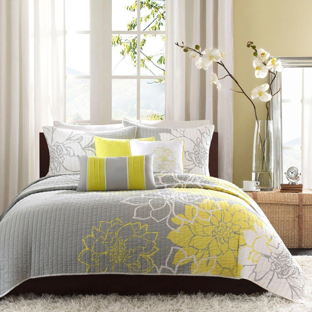 Lola Cotton Printed Quilted Coverlet 6 Pieces Set - Bedding | Madison Park