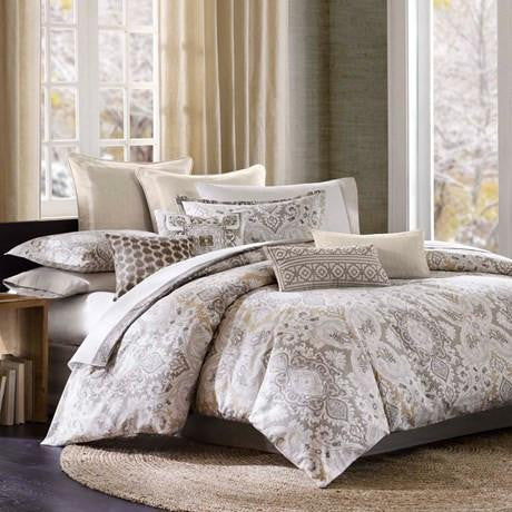 Odyssey Cotton Textured Printed Comforter Set - Bedding | Echo Design