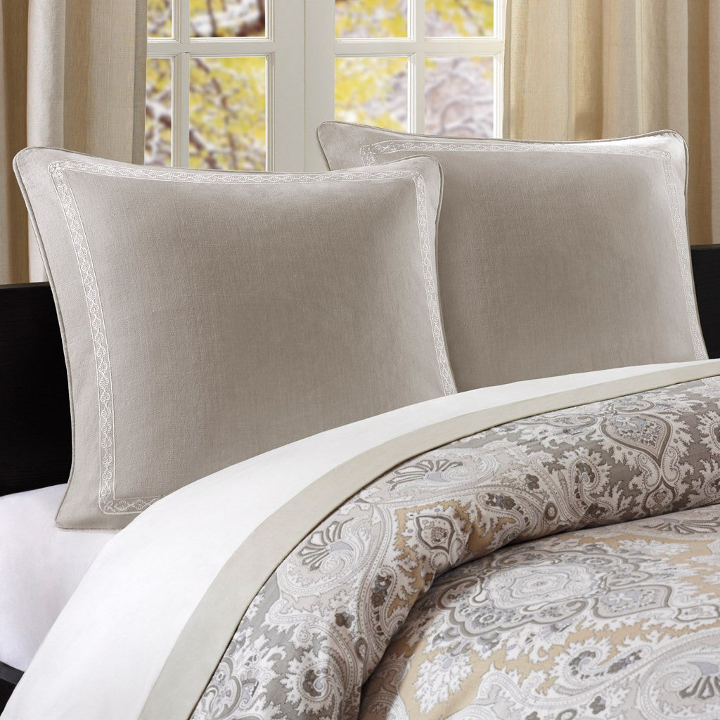 Odyssey Cotton Faux Linen Euro Sham  - Bedding | Echo Design