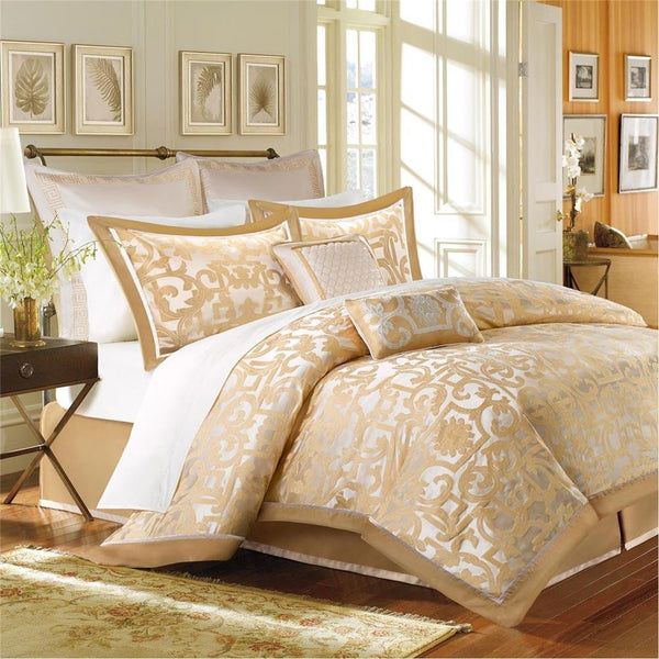 Signature Castello Polyester Jacquard 8 Pieces Comforter Set - Bedding | Madison Park