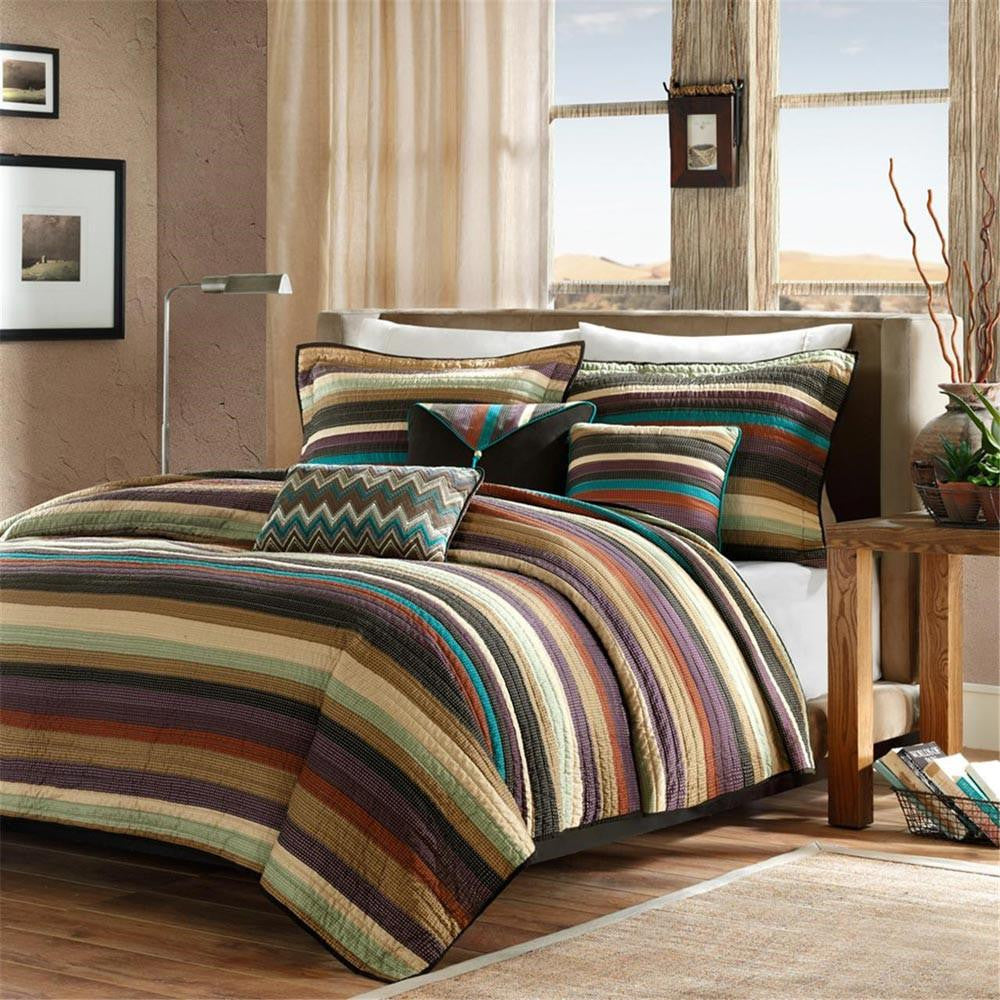 Yosemite Polyester Microfiber Printed Coverlet 6 Pieces Set - Bedding | Madison Park