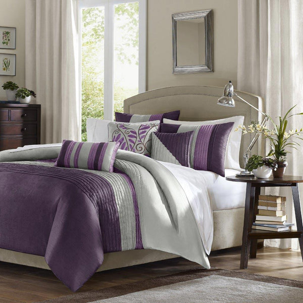 Amherst Polyester Polyoni 6 Pieces Duvet Set - Bedding | Madison Park