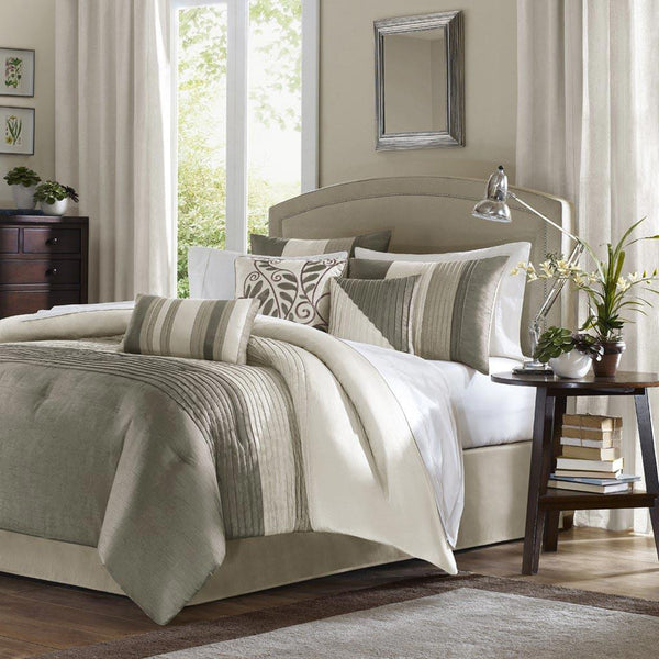 Amherst Polyester Jacquard 7 Pieces Comforter Set - Bedding | Madison Park