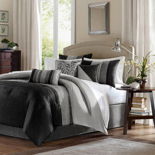 Amherst Polyester Polyoni Pieced 7 Pieces Set  - Bedding | Madison Park