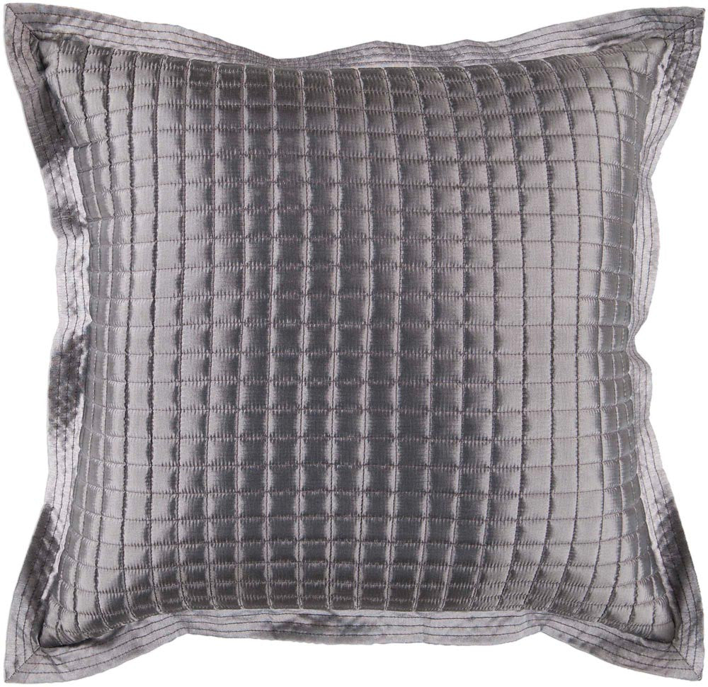 Quilted decorative pillows in Gray