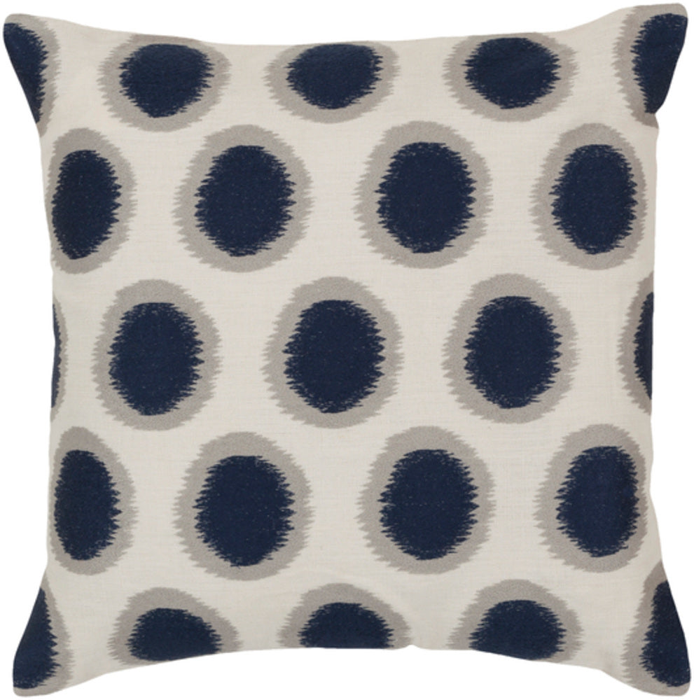 Ikat Dots Fiore Dove Decorative Pillow - Home Decor | Surya