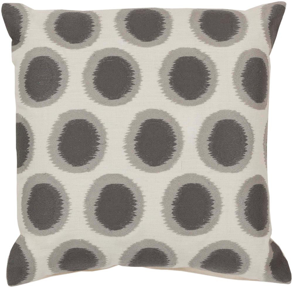 Ikat Dots decorative pillows in Neutral, Gray