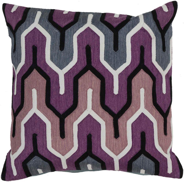 Aztec decorative pillows in Blue, Purple