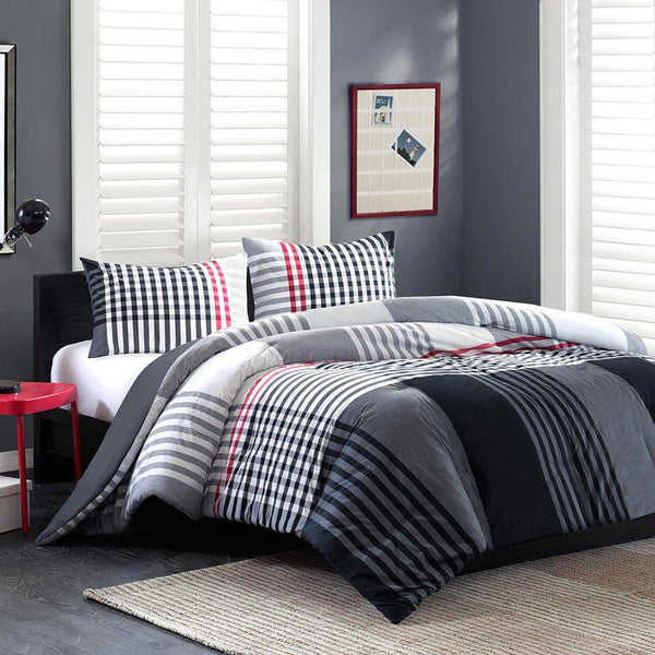 Blake Cotton Yarn Dyed Comforter Mini Set - Bedding | Ink Ivy