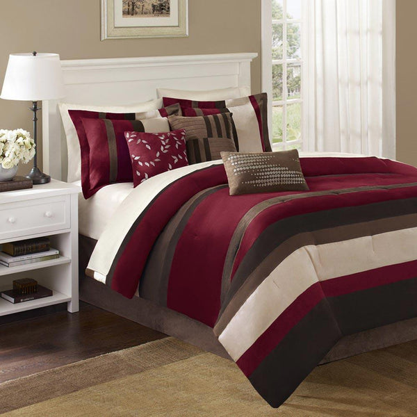 Boulder Stripe 7 Pieces Comforter Set - Bedding | Madison Park
