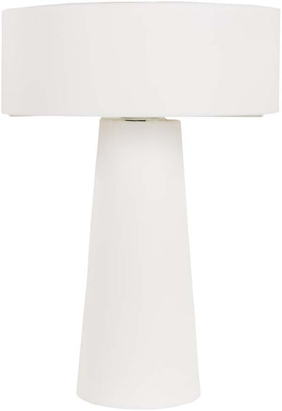 Drum White Bradley Table Lamp