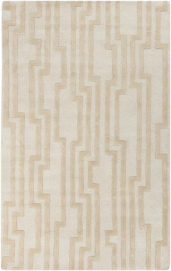 Candice Olson Design Modern Classics Hand Tufted Wool Rugs - Ivory, Light Gray