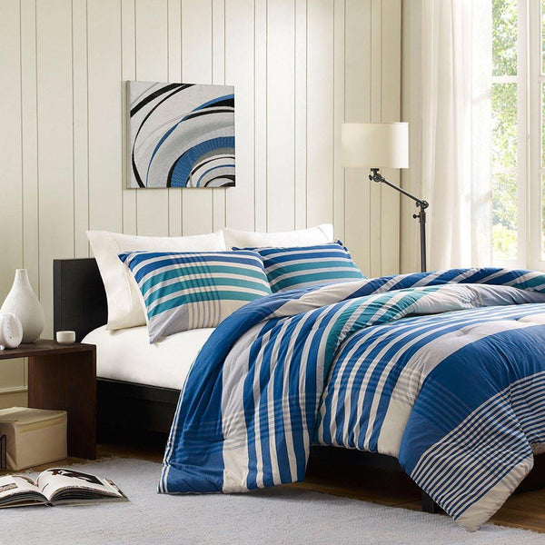 Connor Cotton Yarn Dyed Comforter Mini Set - Bedding | Ink Ivy