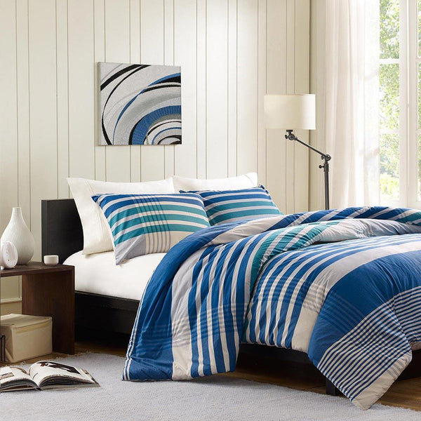 Connor Cotton Yarn Dyed Duvet Mini Set - Bedding | Ink Ivy