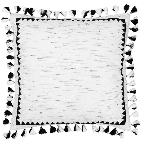 Corazon Euro Decorative Sham, Black/white