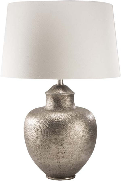 Modified Bell Antiqued Silvertone Cooper Table Lamp