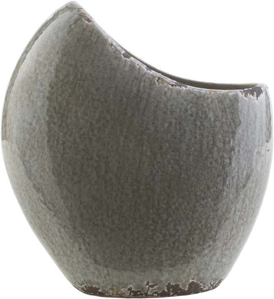 Clearwater Coastal Charcoal, Light Gray, Olive Color Table Vase  small