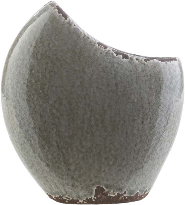 Clearwater Coastal Charcoal, Light Gray, Olive Color Table Vase - Home Decor | Surya