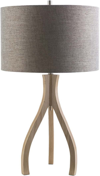 Drum Natural wood Duxbury Floor Lamp