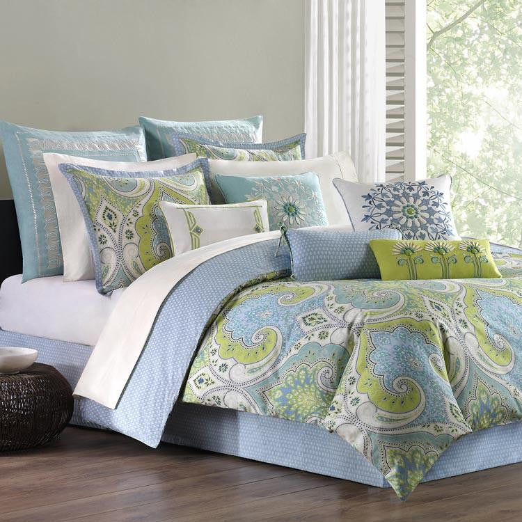 Sardinia  Cotton Printed Comforter Set - Bedding | Echo Design