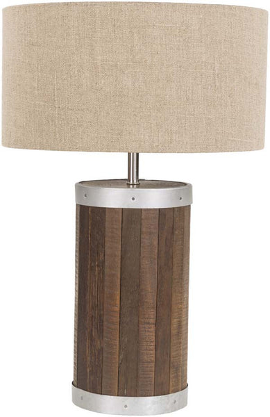 Cylinder Natural Finish Factory Table Lamp