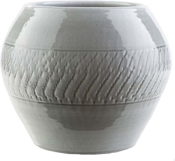Fiesta Contemporary Light Gray Color Pot  medium
