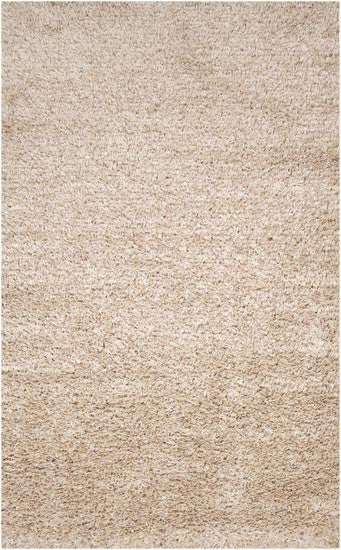 Candice Olson Design Fusion Hand Woven Ribbon Shag Polyester Rugs - Cream