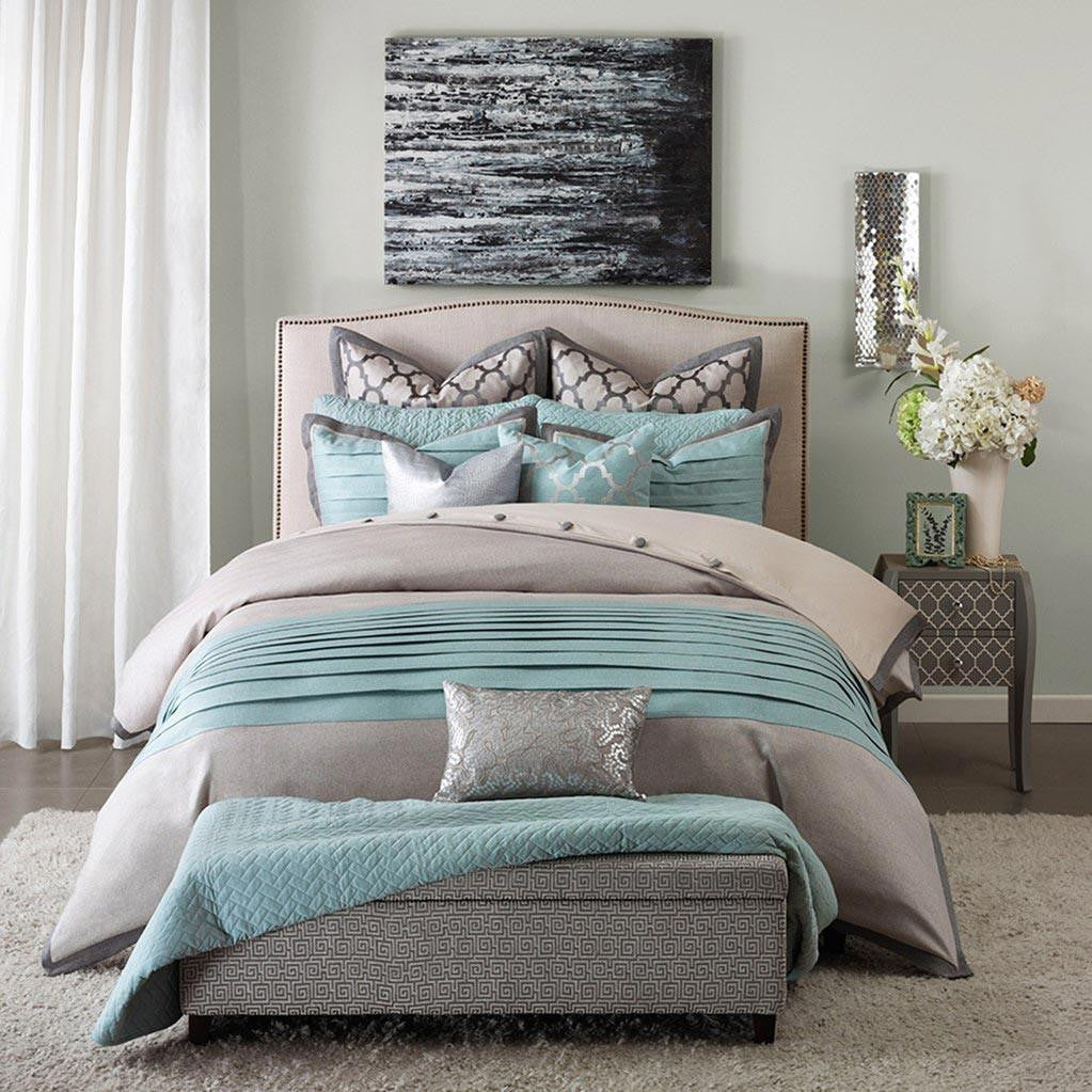 Tranquility Polyester Jacquard 8 Pieces Comforter Set - Bedding | Hampton Hill