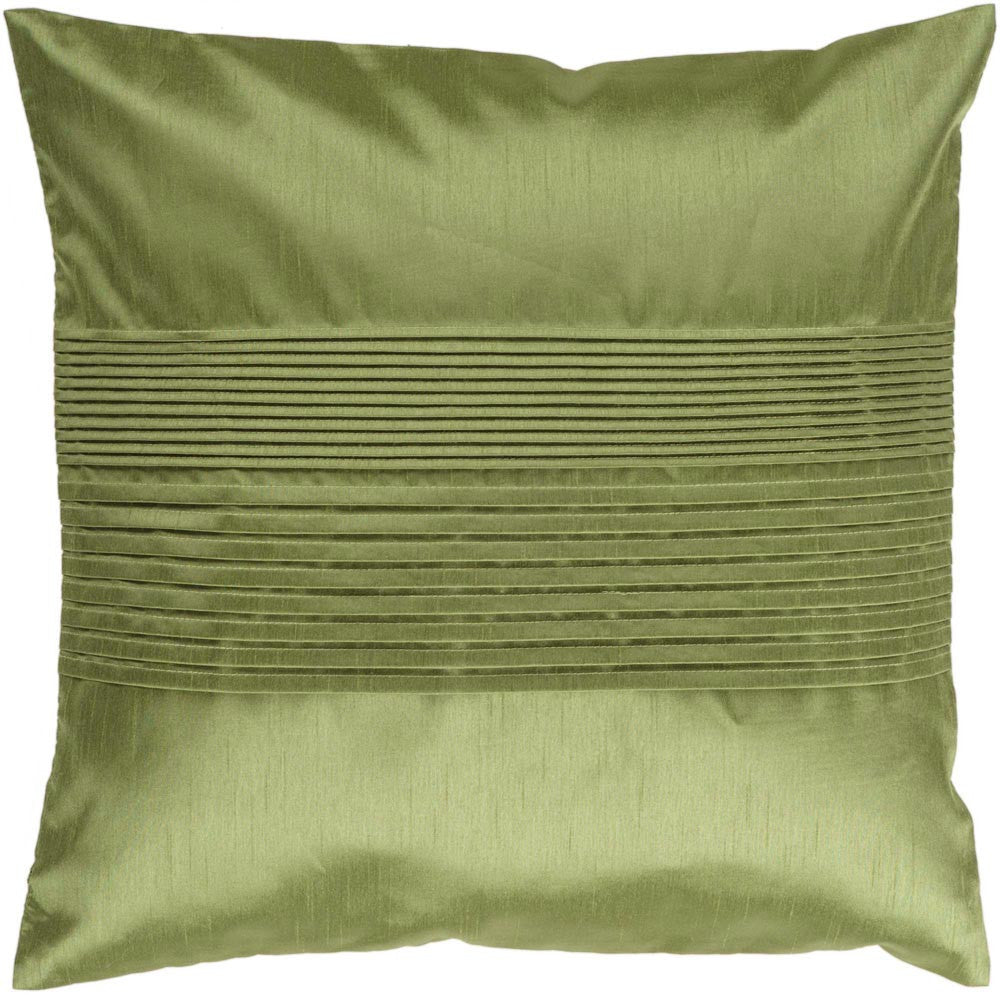 Solid Pleated decorative pillows in Green