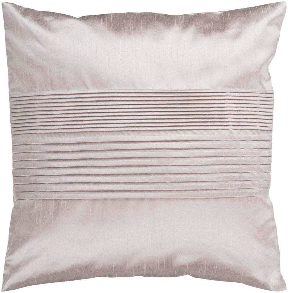 Solid Pleated decorative pillows in Neutral