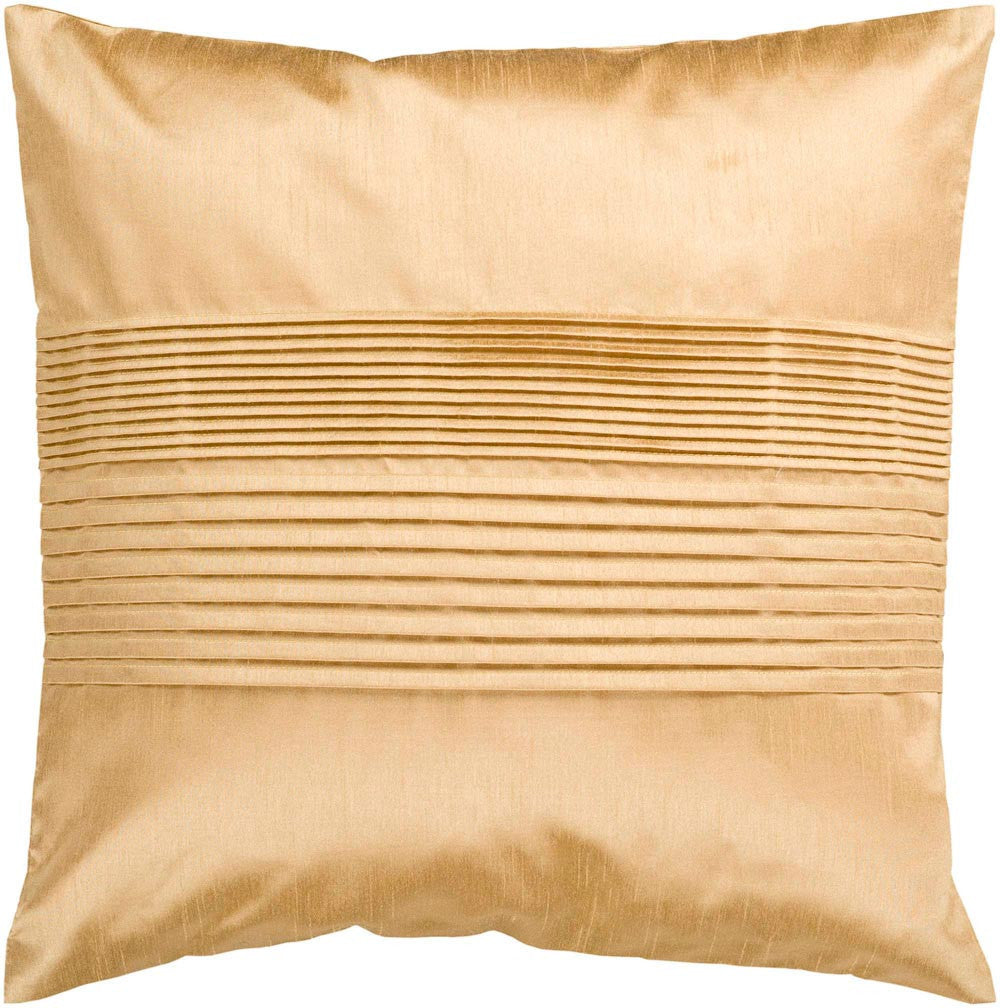 Solid Pleated decorative pillows in Brown