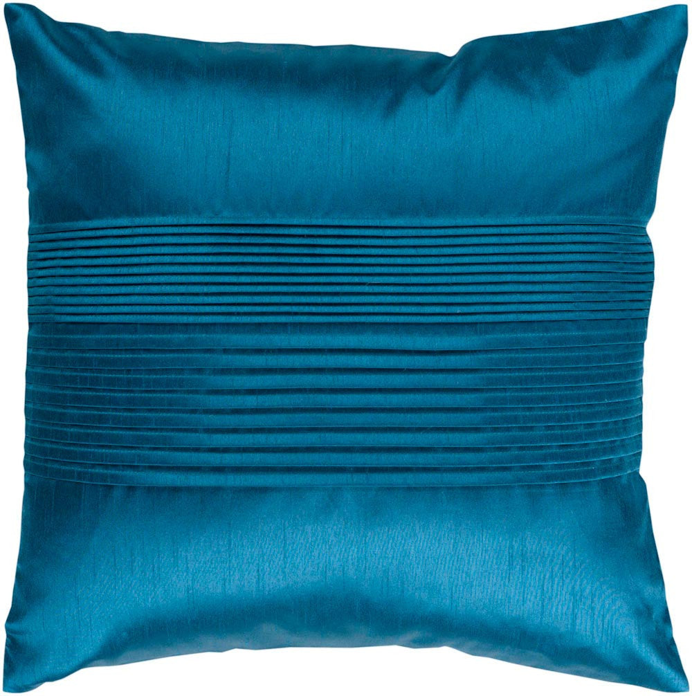 Solid Pleated decorative pillows in Blue