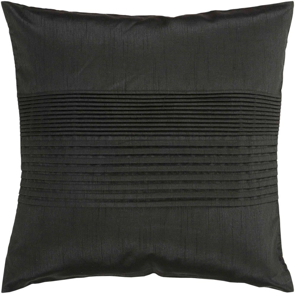 Solid Pleated decorative pillows in Black