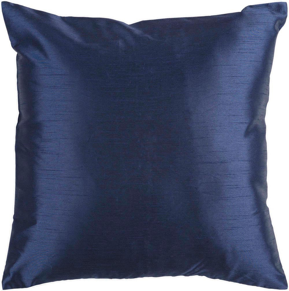 Solid Luxe decorative pillows in Blue