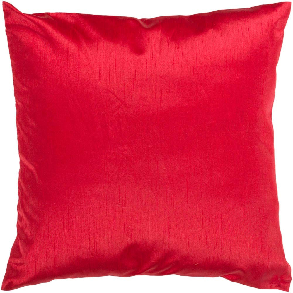 Solid Luxe decorative pillows in Red