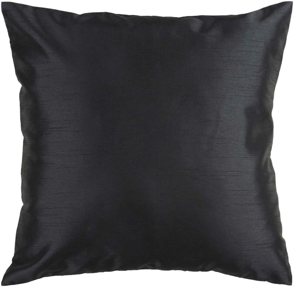 Solid Luxe decorative pillows in Black