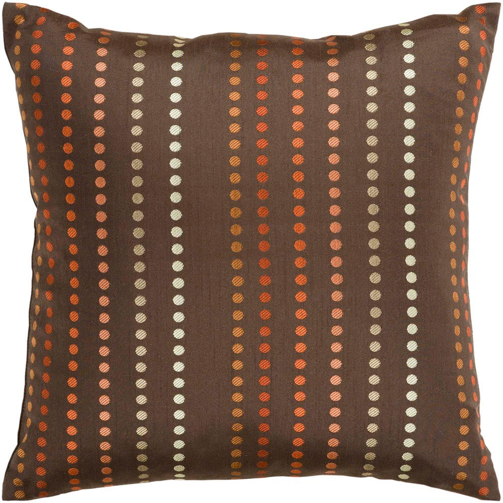 Dots decorative pillows in Brown, Orange