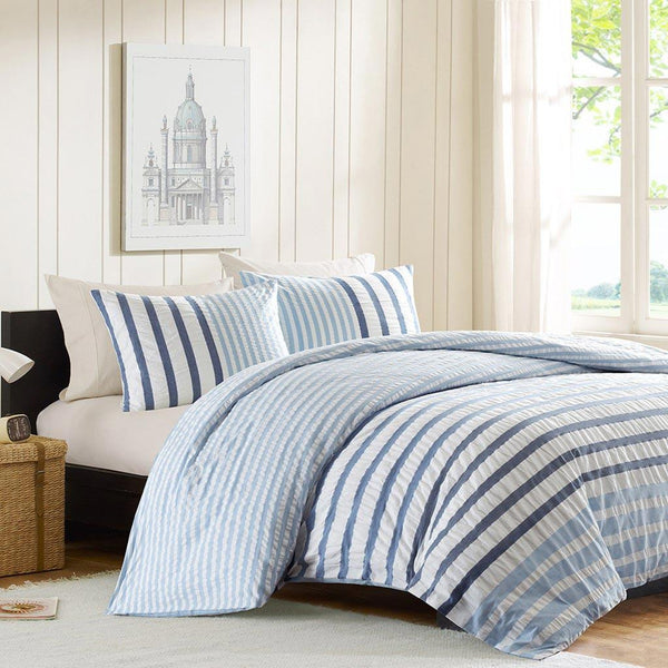 Sutton Cotton Yarn Dyed Duvet Mini Set - Bedding | Ink Ivy