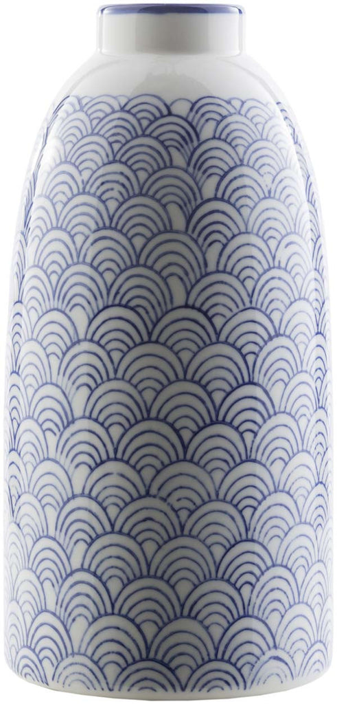 Iona Traditional Navy, Ivory Color Table Vase  medium