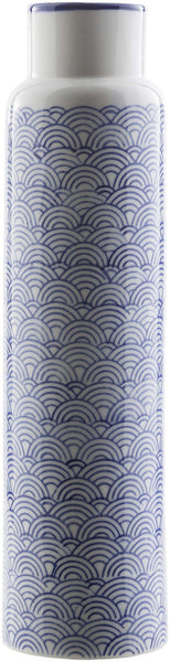 Iona Traditional Navy, Ivory, Cobalt Color Table Vase  medium