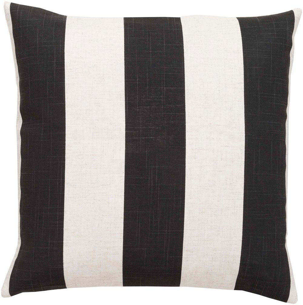 Simple Stripe decorative pillows in Black, Neutral