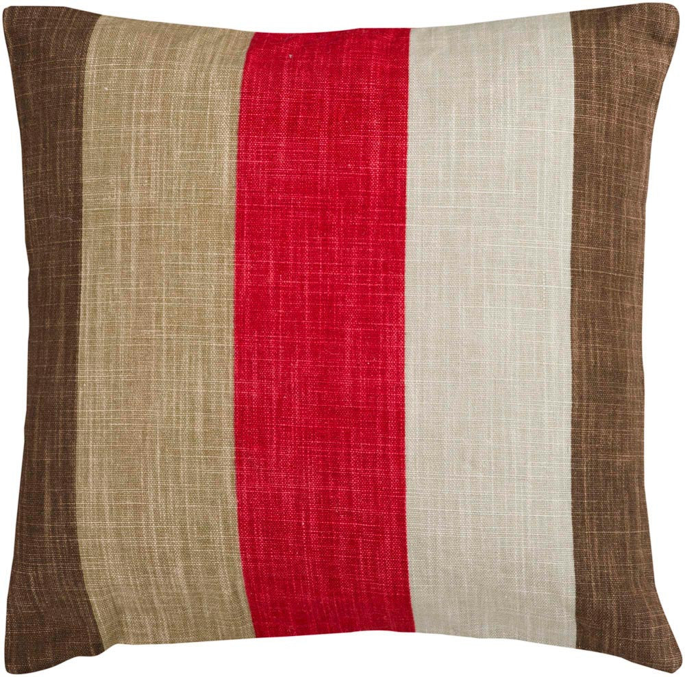 Simple Stripe decorative pillows in Neutral, Brown