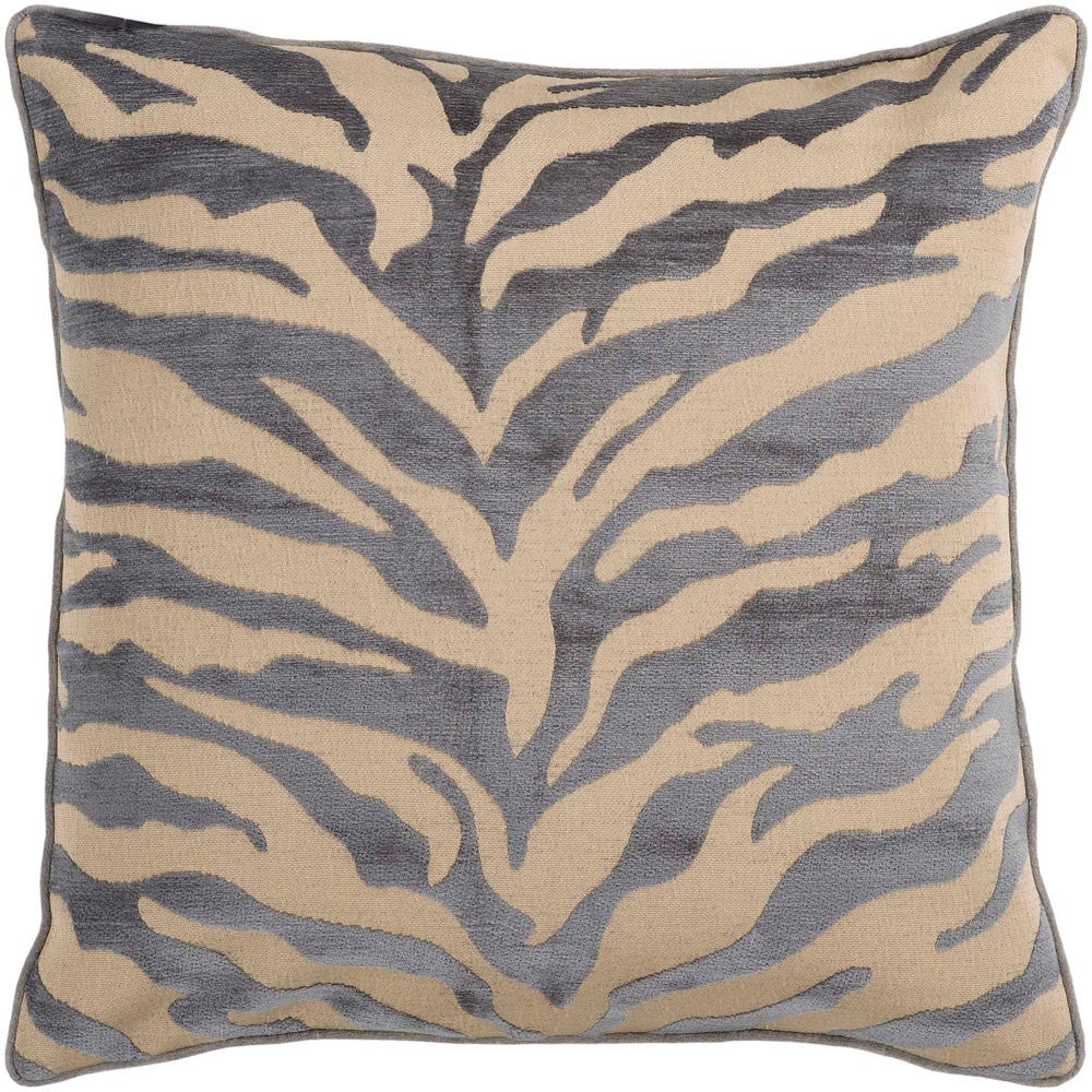 Velvet Zebra decorative pillows in Brown, Gray