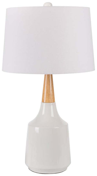 Modified Bell White Kent Table Lamp
