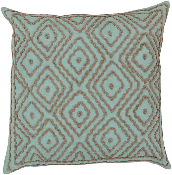 Atlas decorative pillows in Blue, Brown