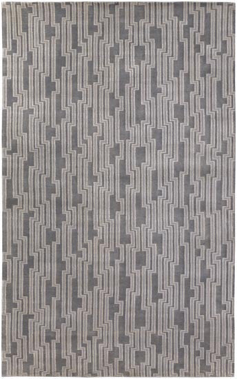 Candice Olson Design Luminous Hand Knotted Wool Rugs - Ivory, Ligt Gray, Light Gray
